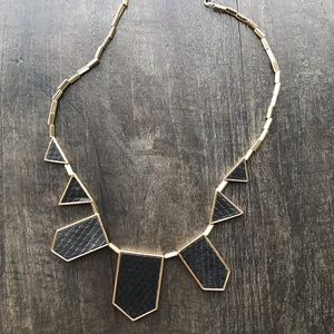 House of Harlow 1960 Leather Station Necklace